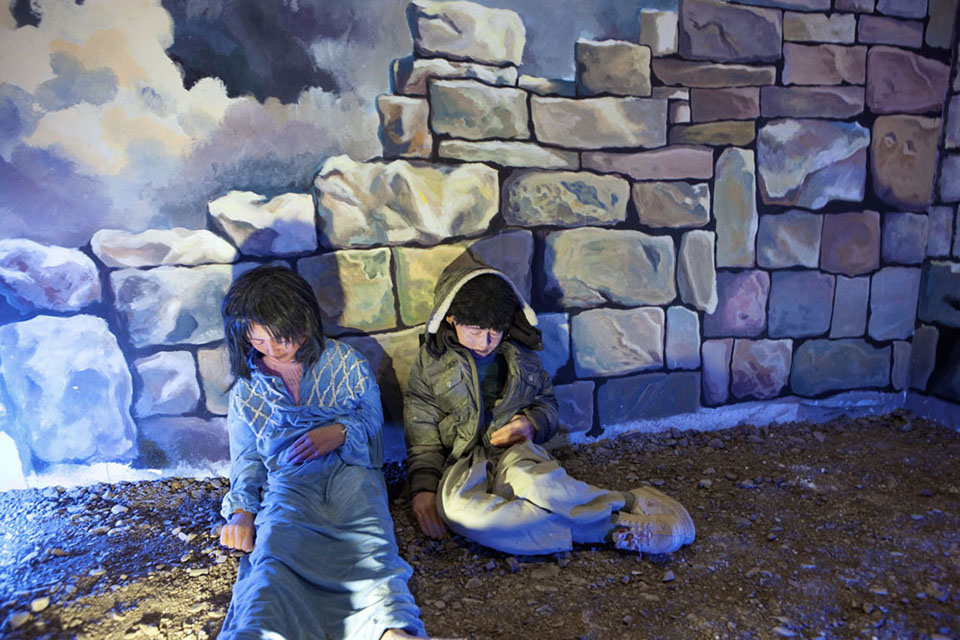 A diorama of a dead boy and girl based on photographs at a museum in Halabja, Iraq, the locale where Saddam Hussein's regime gassed more than 5,000 Kurds in an attempt to quell their brewing rebellion.