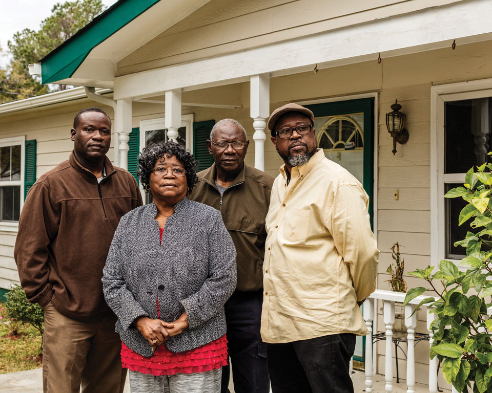 The Scott family, from left: Rodney, parents Judy and Walter Sr., and Anthony.