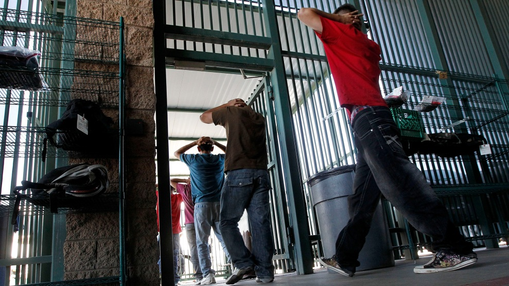 Immigrants who crossed the border illegally are processed at Border Patrol headquarters in Tucson, Arizona, in 2012.
