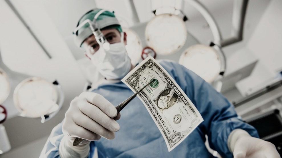 Surgeon with dollar