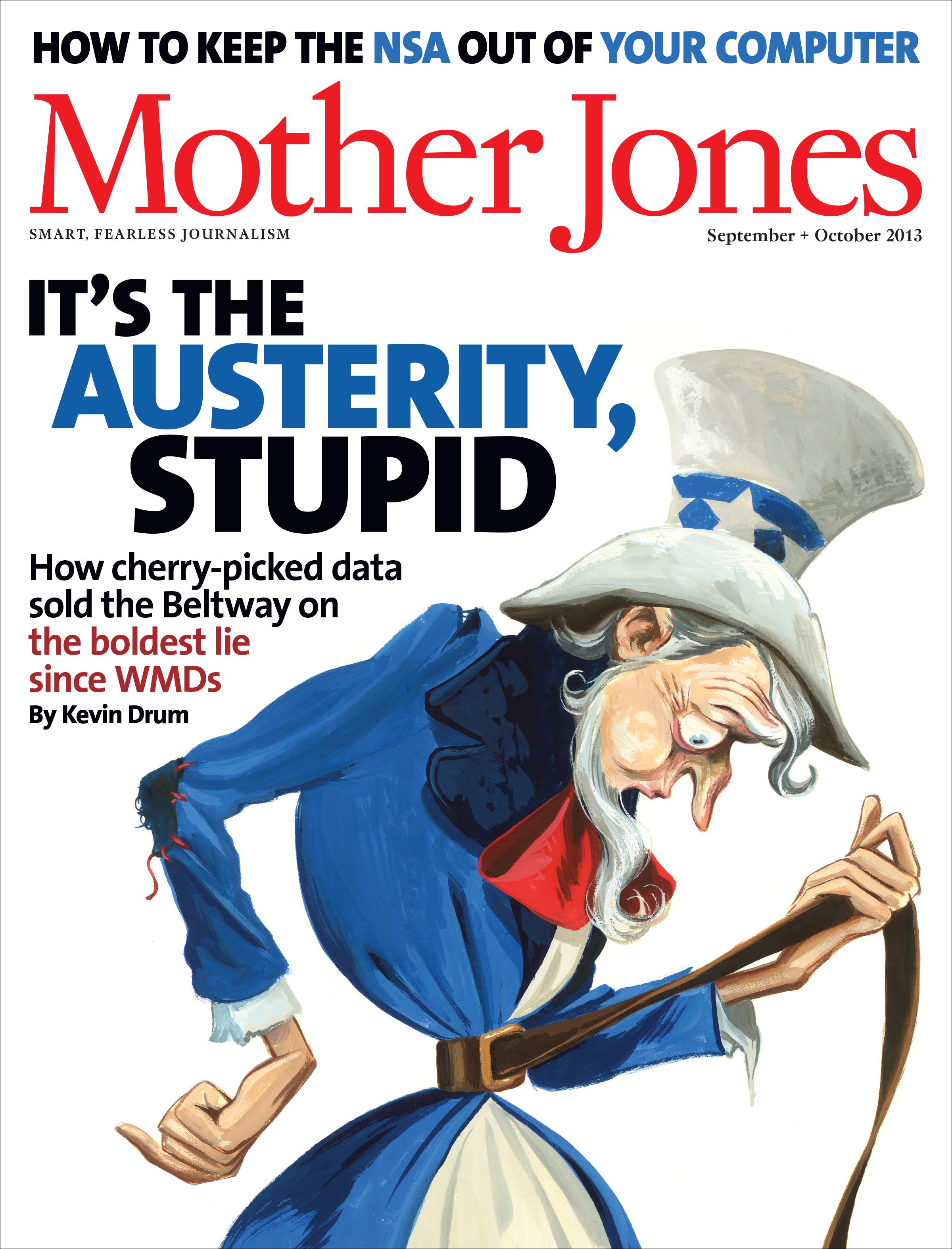 Mother Jones Magazine Cover : September + October 2013