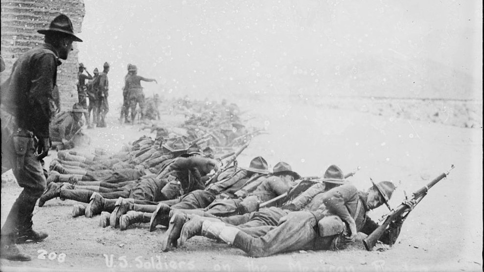 US soldiers on the Mexican border in 1915.
