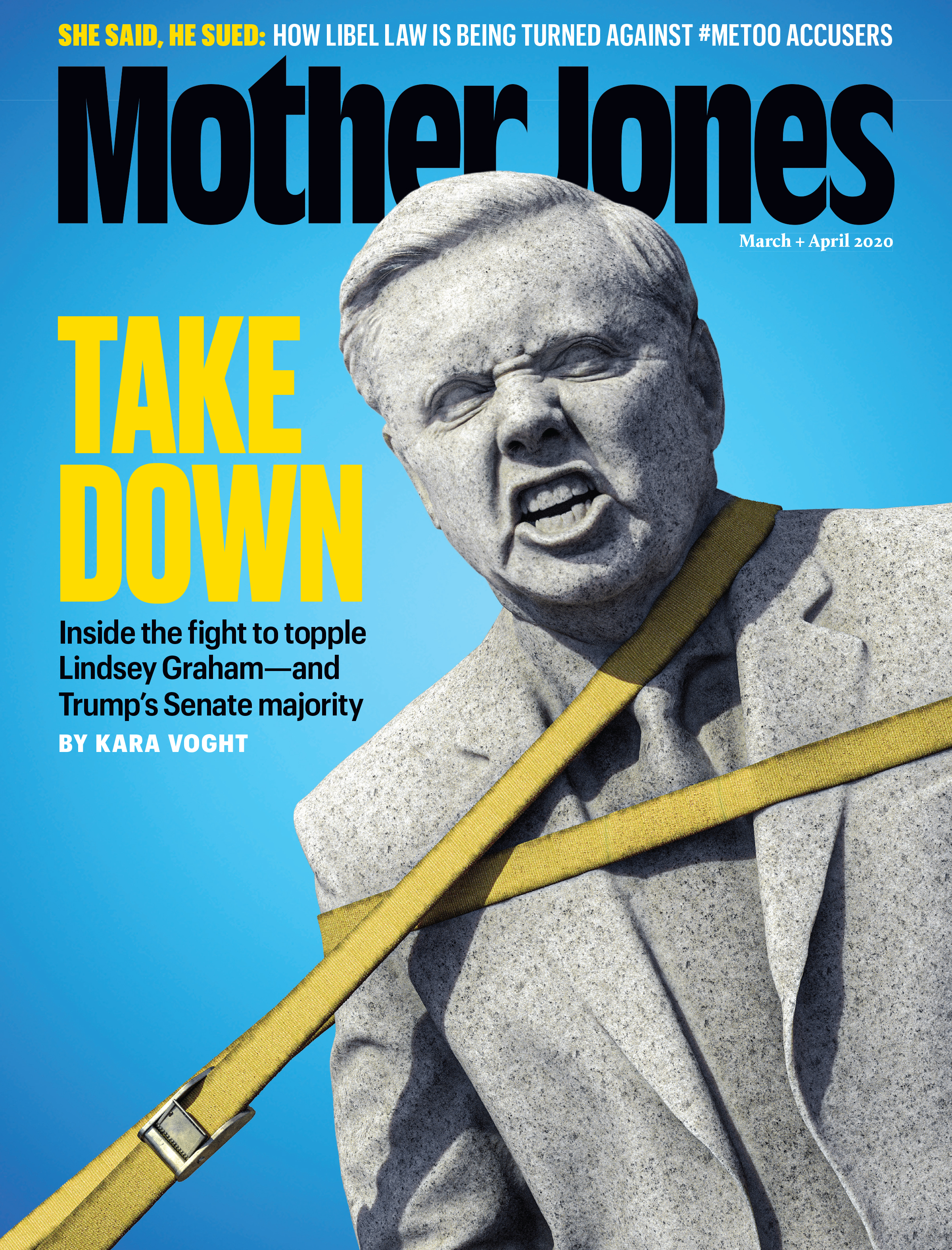 Mother Jones Magazine Cover : March + April 2020