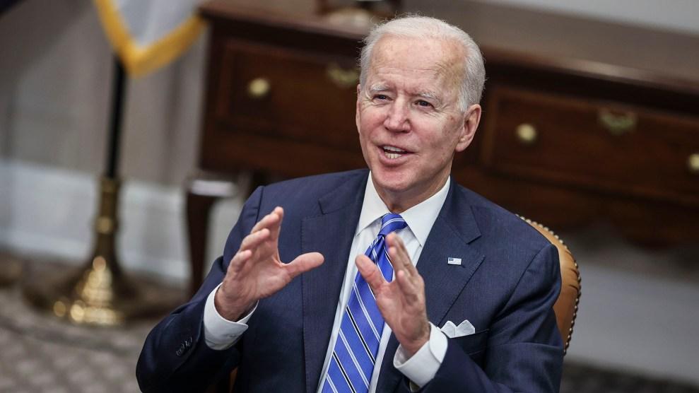 Joe Biden happy