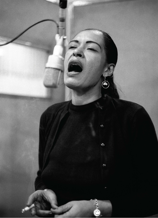 Billie Holiday recording Lady in Satin, New York City, December 1957.