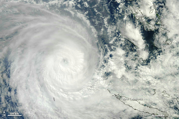 Cyclone Sandra in the South Pacific on 10 March 2013