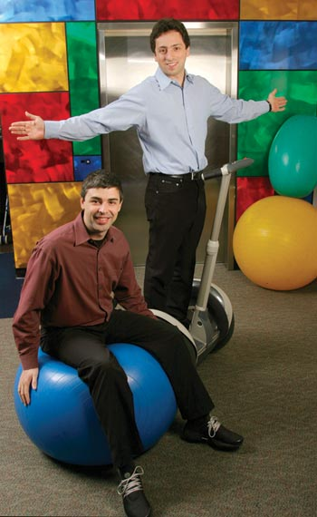Larry Page and Sergey Brin portrait