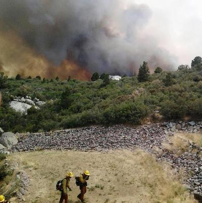Yarnell Hill fire and firefighters