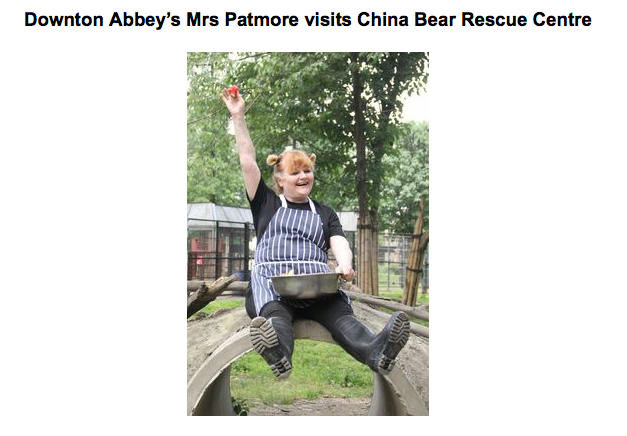 Mrs. Patmore Downton Abbey bear rescue