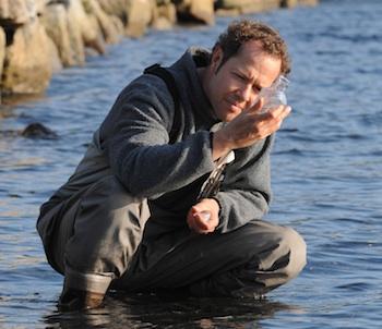 Ocean ecologist Boris Worm, in action.