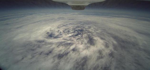 Photo of Tropical Storm taken from a Global Hawk aircraft. NASA/NOAA