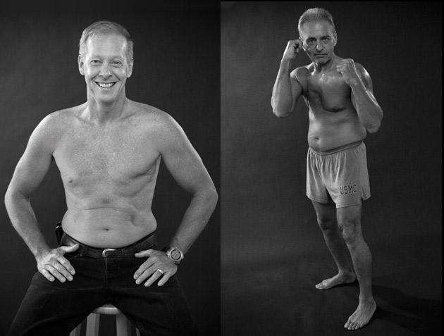 Kris Thomas (left) and Jim Fontella from an Art beCAUSE Breast Cancer Foundation calendar.: Photos: David Fox