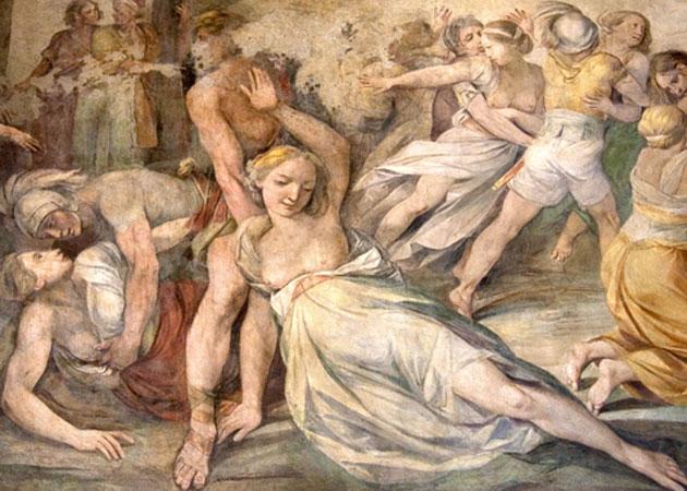 Rape of the Sabine Women, by Giuseppe Cesari.  Fotopedia