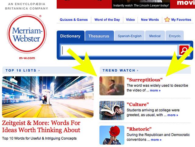 Screenshot courtesy of Merriam-Webster.com